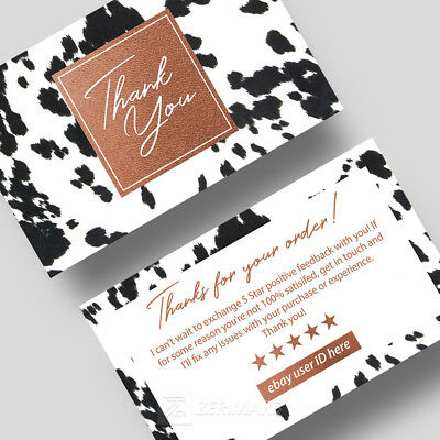 500 Thank You For Your Purchase - Store Seller Business Cards 16pt