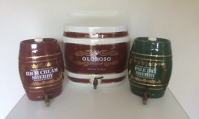 Collection Of Three Vintage Sherry Barrels