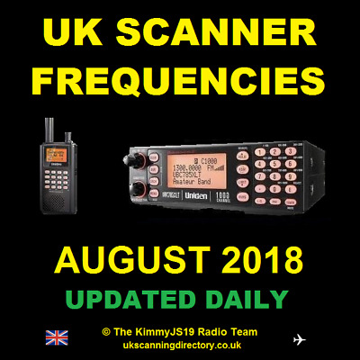 UK SCANNING DIRECTORY August 2018 - Scanner Frequencies CD (Fully Updated)