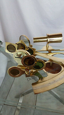 Shine Brass Vintage Brass Sextant Marine Navigation Nautical Sextant