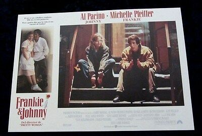 Frankie and Johnny lobby card  # 3 - Al Pacino, Michelle Pfeiffer