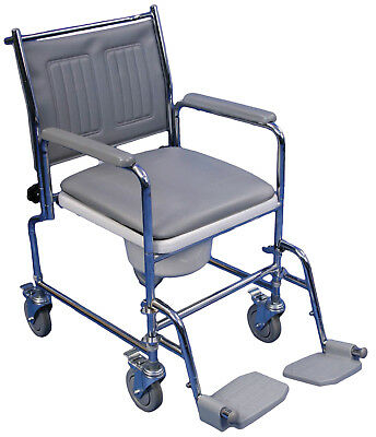 Aidapt Lenham Height Adjustable Luxury Mobile Disability Aid Commode #VR231