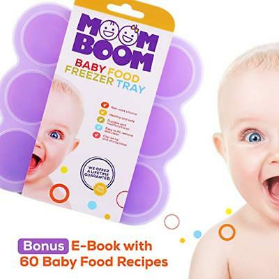 Moom Boom Silicone Baby Food Freezer Storage Containers  *75ml or 2.5oz {ES-051}