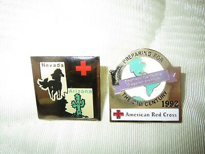American Red Cross Disaster Training Institute pins from 1990s
