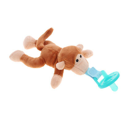 Boy Girl Baby Dummy Pacifier Clip Plush Monkey Toy Soother Nipple Holder
