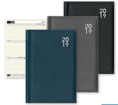 2019 A4 Week to View Desk Diary Premium Soft Padded Diary Gift - UBK19 - NEW