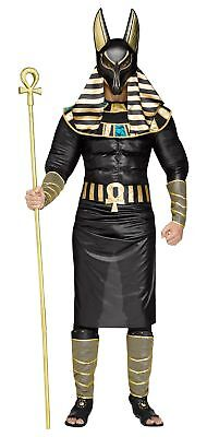 Anubis Ancient Egyptian God of Death Dead Adult Costume STD Black Gold