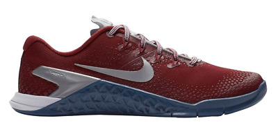 a0d30cf5a9a2 New NIKE METCON 4 VERSATILE TRAINING SHOES WOMENS RED METALLIC SILVER 5 - 12