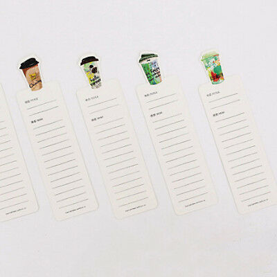 30pcs Coffee Diary Bookmarks Book Marker Stationery For Supplies Office S