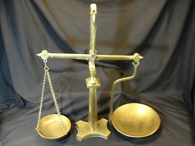 Rare Antique Large Brass Doyle & Son London Beam Scale Apothecary Weight