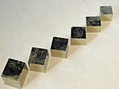Lot of Small Nice AAA 100%Natural Graduated PYRITE Crystal Cubes! Spain 69.0gr e
