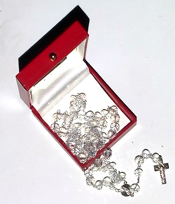 Our Lady Of Guadalupe Crystals & Sterling Silver Rosary Made In Mexico