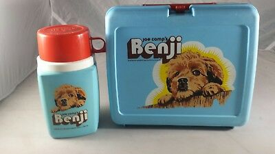 Vintage 1974 JOE CAMP'S BENJI LUNCH BOX & THERMOS