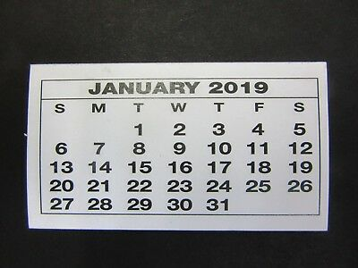 2019 CALENDAR TEAR OFF PAD MINI CALENDAR MONTH TO VIEW Pack of 10