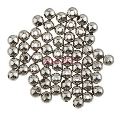 100P Silver Stainless Steel Loose Beads Spacer DIY Jewelry Making Findings