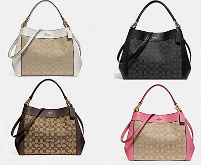 69055075eee0 NWT Coach Small Lexy Shoulder Bag Signature Jacquard   Leather F29548  325