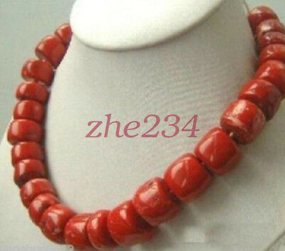 Jewelry & Watches Natural red coral stone irregular beads 9-13mm necklace for women chain 18