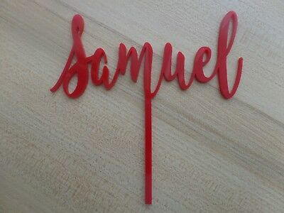 cake topper - customised - Name only Acrylic OR Rustic wood - SPECIAL DEAL.