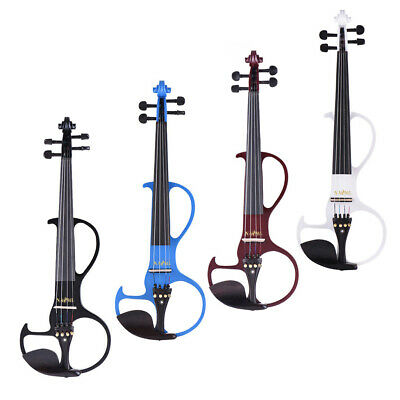 4/4 Silent Electric Violin with Case Bow Rosin Musical Stringed Instrument