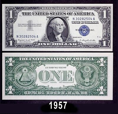 1957 $1.00 Silver Certificate Notes - BRAND NEW US Dollar -PERFECT, in sequence