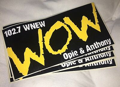 Opie & Anthony WOW Sticker 102.7 WNEW NYC- (10 Pack) **VERY RARE**
