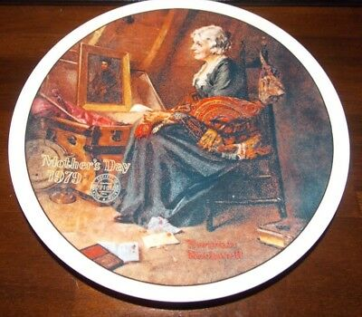 Norman Rockwell Reflections Collectible Plate Knowles Mothers Day 1979