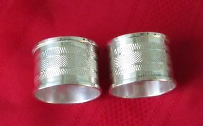 Henry Griffith & Sons English Matching Pair of Sterling Silver Napkin Rings