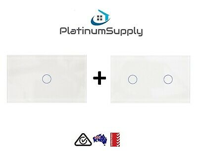 1 & 2 GANG Combo WiFi Switch Google Alexa Smart Home Automation Touch Switch