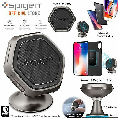 Car Mount Holder Dock, Genuine SPIGEN QS40 Dashboard Magnetic for iPhone/Galaxy