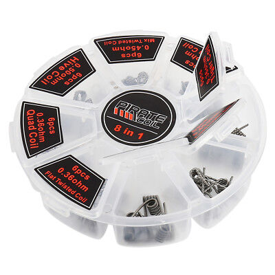 48pcs Demon Killer Kanthal 8 in 1 Alien Clapton Twisted Hive Pre-Built Coils USA