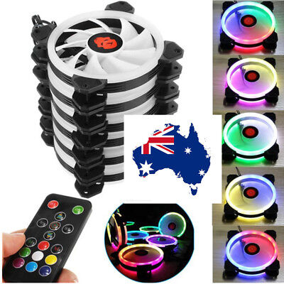 12CM PC Chassis Cooling Fan Rainbow Lights Colorful RGB Multimodal Cooling AU!