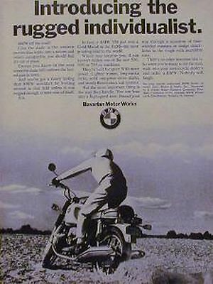 BMW 750 500 600 Motorcycle Ad 1970 RUGGED INDIVIDUALIST