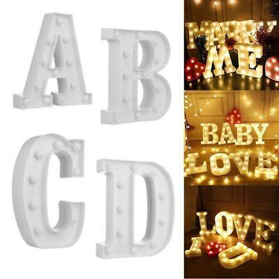 Alphabet Letter Lights Led Light Up White Wooden letters Standing/ Hanging Party