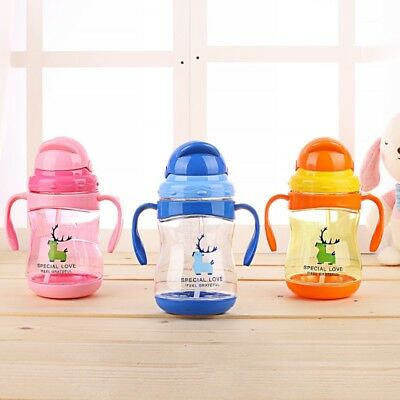 300ml Baby Toddler Drinking Sippy Cup Water Bottle Baby Water Milk Feeding Cup