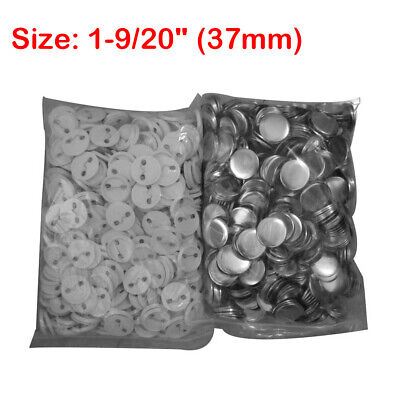 """1-9/20"""" (37mm) Blank Metal/ABS Pin Badge Button Supplies Parts for Badge Making"""