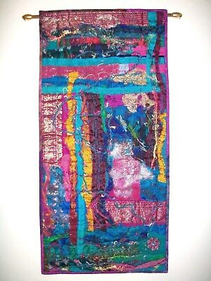 Handmade Art Quilt Entitled The Silk Route