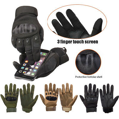 Military Army Tactical Hard Knuckle Full Finger Gloves Hunting Motorcycle Biker