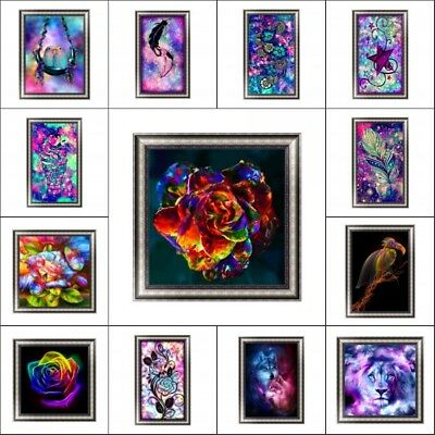 Colorful 5D Diamond Painting Paint By Number Cross Stitch Kit Home Decor DIY Art