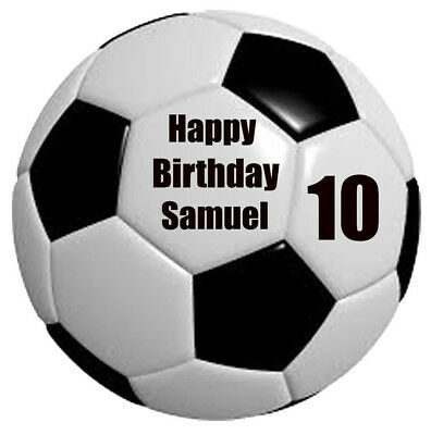 1 x 19cm ROUND SOCCER BALL Wafer Rice Paper Cake Topper EDIBLE CAKE DECORATIONS