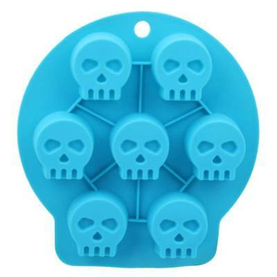 Skull Shape 3D Ice Cube Mold Box Maker Bar Party Silicone Trays Chocolate Mould