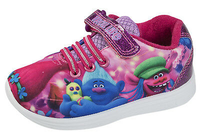 Trolls Skate Shoes Princess Poppy Pink Glitter Trainers Girls Sneakers Pumps Siz