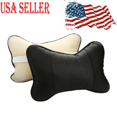 2Pcs Car Seat Head Neck Rest Cushion Chair Support Pillow Back Headrest USA