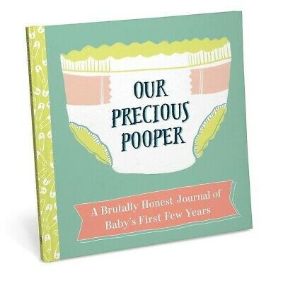 Our Precious Pooper Baby Milestone Book Funny Novelty Cool Shower Gift New Paren