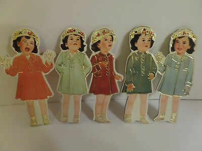 Dionne Quintuplets Decorative Hangers by Shackman    Printed on both sides  NIP