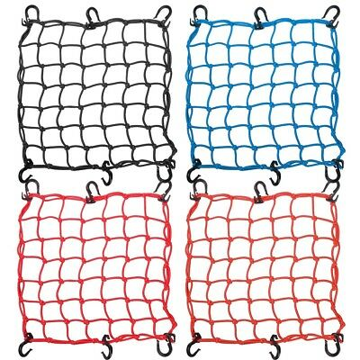 "15""x15"" Bungee Cargo Net 6 Adjustable Hook Stretch 30""x30"" Motorcycle Color Opt"