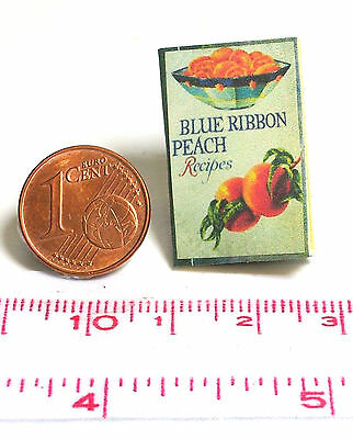 1232# Blue ribbon peach recipes - Engl. Buch für Puppenhaus-Puppenstube - M1zu12