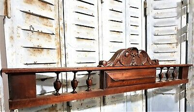 Scroll Leaves Pediment Antique French Hand Carved Wood Architectural Salvage
