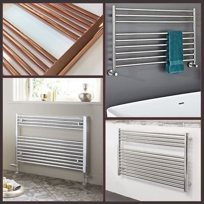 HIGH QUALITY! Chrome, Copper OR Stainless Steel HORIZONTAL Heated Towel Rails