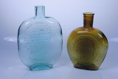 Clevenger Brothers glass #4 & #5 FACTORY SAMPLE bottles Pair 2 South Jersey