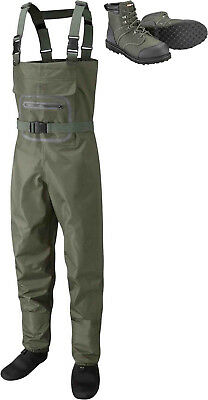 Leeda Stocking Foot Breathable Profil Fly Fishing Chest Waders with Wading Boots